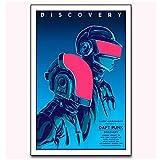 SDGW Daft Punk The Weeknd Starboy Rap Hip Lienzo Impresiones Arte Cartel Hotel Bar Cafetería Decoración De Pared Regalo-50X70Cm Sin Marco