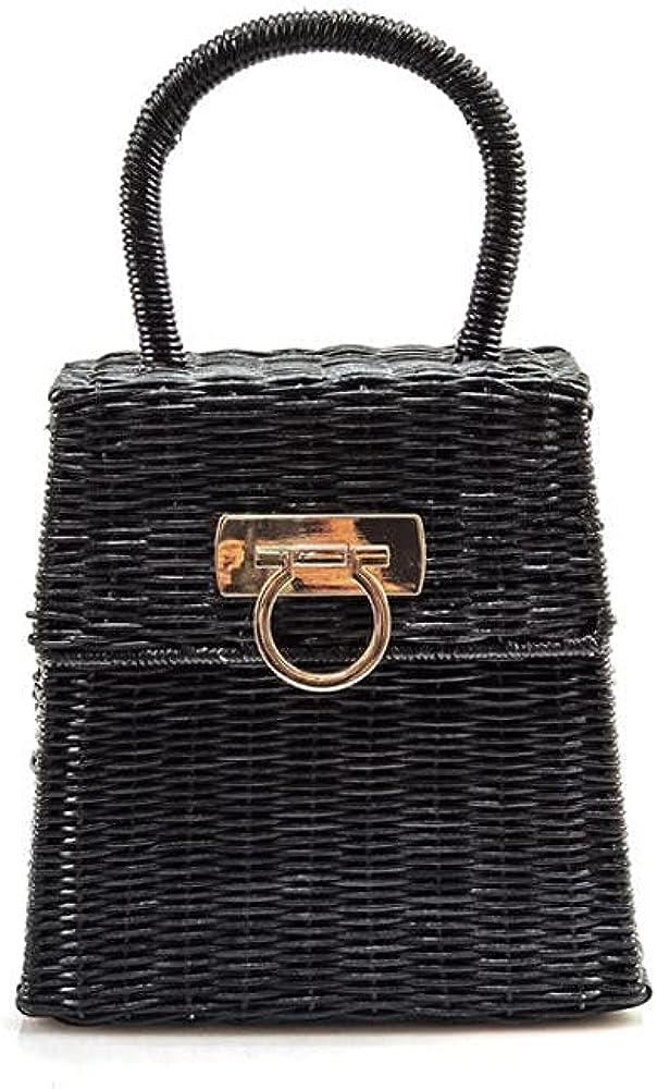 Bohemian Rattan Woven Women Handbag Handwoven Top-handle Ladies Hand Bags Summer Beach Straw Women's Bag