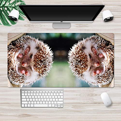 LJUKO Alfombrilla Xxl Erizo Animal 900x400mm Alfombrilla Raton Gaming Grande, Alfombrilla de Ratón XXL, Mouse Pad Impermeable con Base Antideslizante y Borde Cosido para el Hogar, Oficina, PC, Portáti