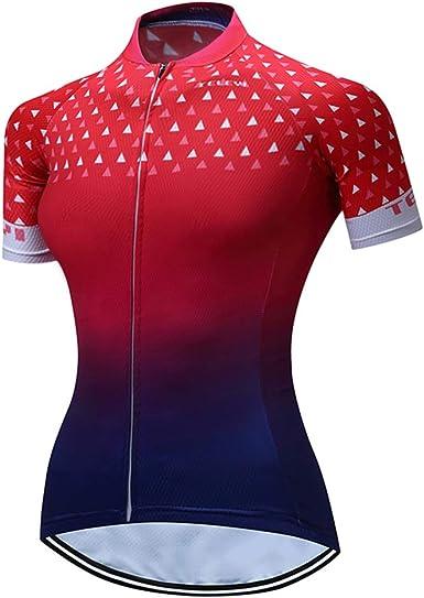 Mujeres Ciclismo Jersey Pro Bike Team Full Zipper Verano Manga Corta MTB Camisa Tops de secado rápido Bicicletas ropa Jerseys