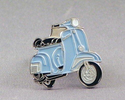 Anstecknadel aus Metall und Emaille, Motiv: Scooter, Vespa, Hellblau