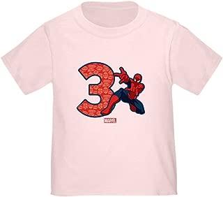 CafePress Spider-Man Birthday Age 3 T-Shirt Toddler Tshirt