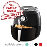 Dash DFAF455GBBK01 Deluxe Electric Air Fryer + Oven Cooker with Temperature Control, Non Stick Fry Basket, Recipe Guide...