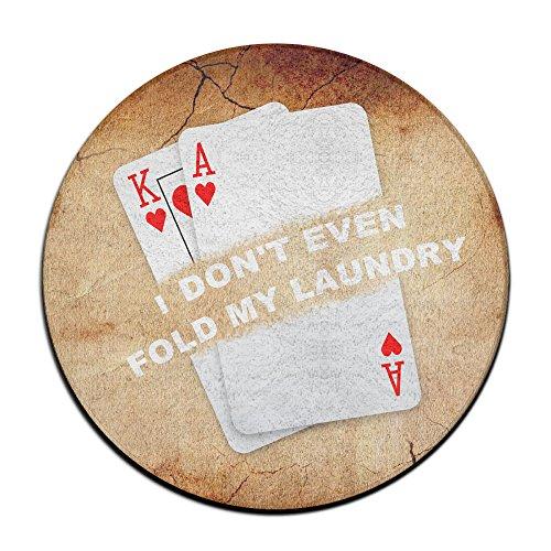 Poker I Don't même à Linge Fold My Funny Flash Player Texas Hold'em Tapis Circulaire Tapis antidérapant Tapis Salle à Manger Chambre à Coucher Tapis Tapis de Sol 59,9 cm