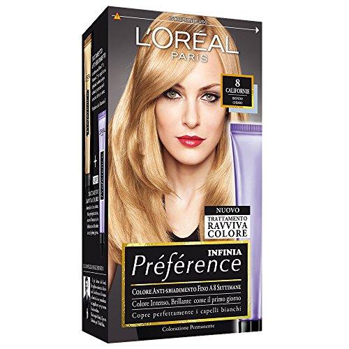 L'Oréal Paris Préférence Colore Permanente, 8 Californie Biondo Chiaro