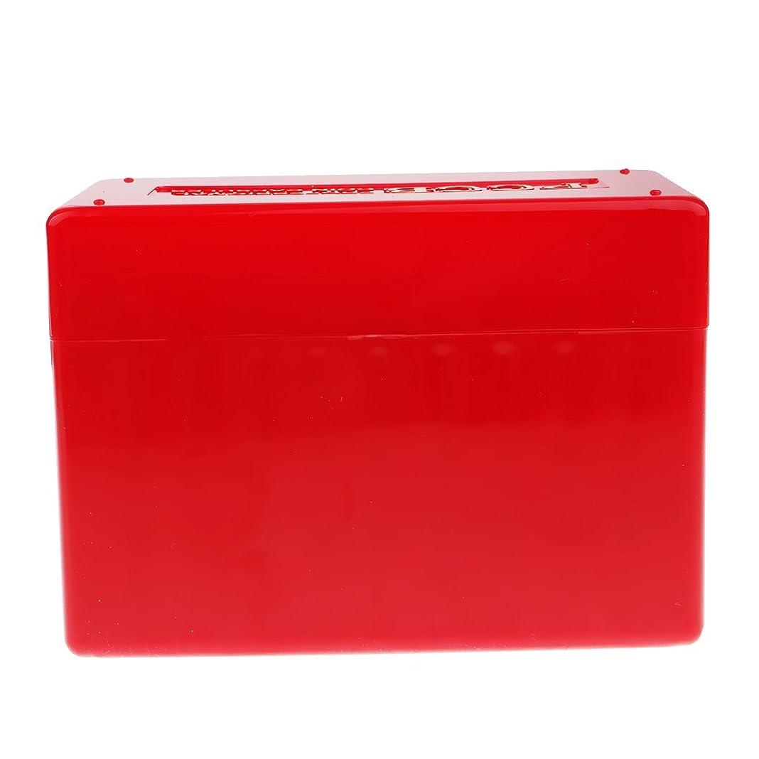 バージンリブ血まみれ1pcポータブルコイン収納ボックスコインディスプレイホルダーコンテナ用コイン - レッド