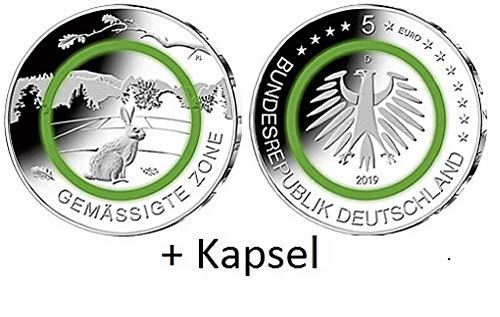 Klimazonen der Erde Sammlermünze gemässigte Zone 2019 Prägestätte F aus der Serie Kapsel 27,5 mm (ST - F)