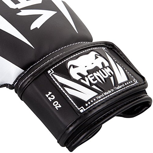 Venum Elite Boxing Gloves-Black/Red/Grey, 8 oz