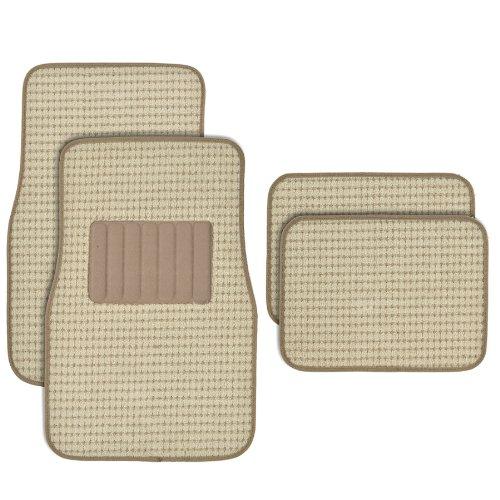 Premium Thick Plush Carpet Car Van SUV & Truck-Heavy Duty Woven Berber Style Floor Mat-4 Piece