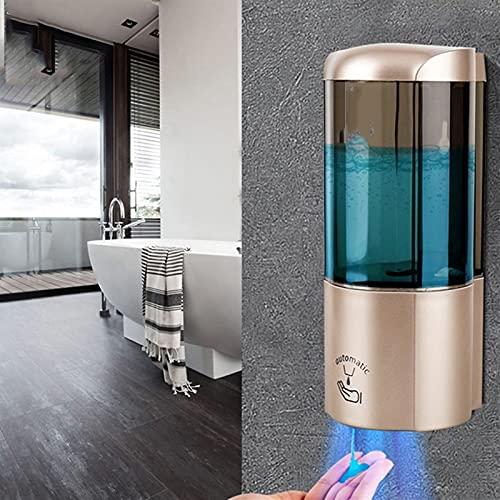 WJY Dispensador de Jabón Automático, 500ml Montado en la Pared Dispensador de Jabón Sin Contacto Sensor Inteligente Impermeable Dispensador de Jabón Manos Libres para Home, Hospital, Office, Hotel