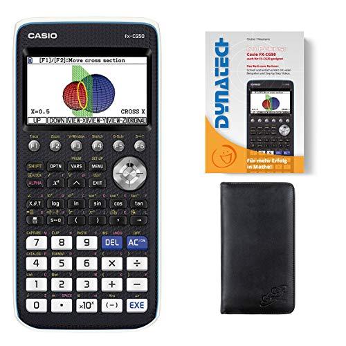 Casio Taschenrechner FX-CG 50 Grafikrechner + Schutztasche + Buch - wissenschaftlicher Schulrechner Nicht programmierbar Tasten elektronisches Farbdisplay für Schule Gymnasium Batterie Studium