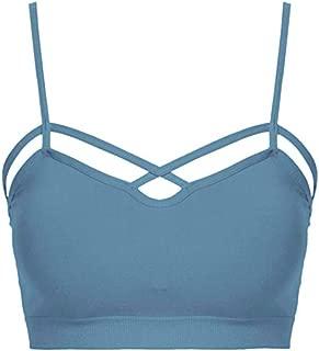 Sexy Women Caged Bralette Criss Cross Strappy No Pad Sports Bra Stretch Crop Top Plus Size