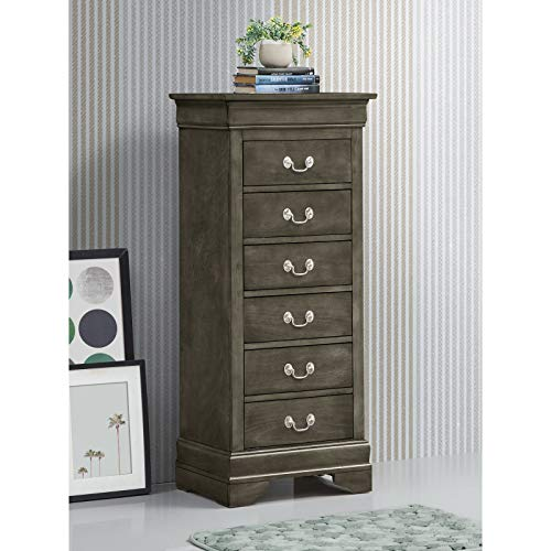 Rehoboth 6 Drawer Lingerie Chest, Dresser Mirror: No, Dovetail Drawer Joints: Yes