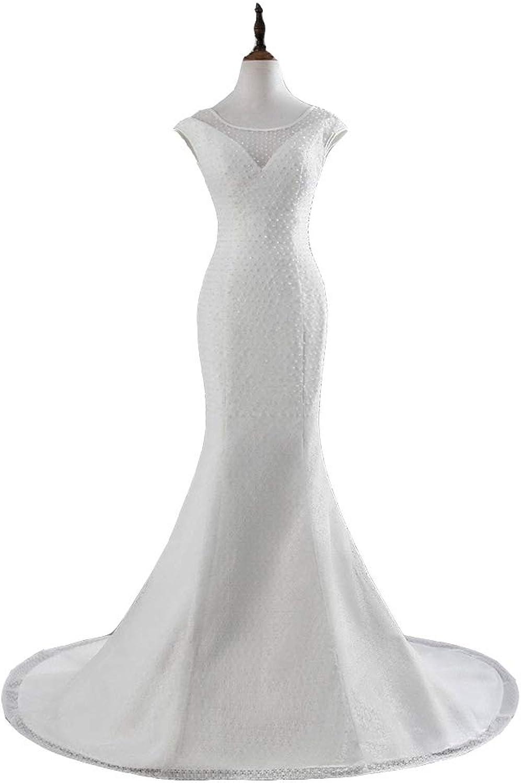 Seasail 2019 Sexy Chest Mermaid Wedding Dresses Cap Sleeves Lace Wedding Gown Vestido De Noiva