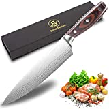 InnoStrive Chef Knife German High Carbon Stainless Steel Kitchen Knife Ultra Sharp Chef Knife 8 Inch For Home Kitchen & Restaurant