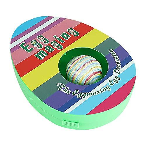 QYHSS Decoración de Huevos de Pascua, Máquina de Decoración de Huevos de Pascua DIY, Incluye 8 Marcadores Coloridos de Secado Rápido, Juguete, para La Decoración y El Regalo