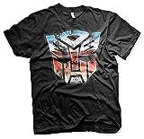 Transformers Optimus Prime Autobot Logo tee T-Shirt Mens Black XL