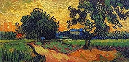 Landscape At Twilight Poster Print by Vincent Van Gogh (24 x 48)