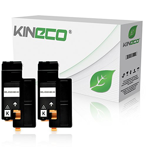 Kineco Toner kompatibel mit Dell E525w Multifunktionsdrucker - 593-BBJX - Doppelpack Schwarz je 2.000 Seiten