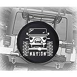 yyndw Copertura del Pneumatico Copertura della Ruota di Scorta Sollevata Fuoristrada Nation per Camion Rimorchio SUV Jeep SUV 60~69cm