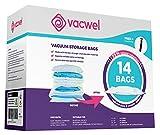 Vacwel Vacuum Storage Bags for Clothes, Ziplock Space Saver Bags (JUMBO + LARGE + MEDIUM size)