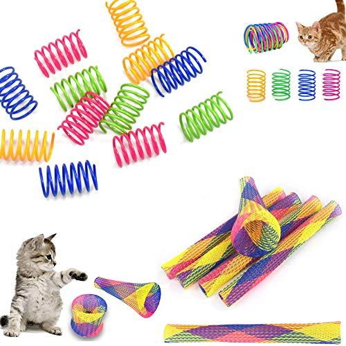26 Piezas.Juguetes de Primavera deJuguete para Gato Colorido del Gato Muelles en Espiral de Plástico para Gato Gatito Mascotas Novedad Regalo Mascotas Interactiva Mascota