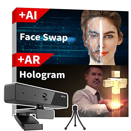 PQ Holographic Webcam, 1080P - 4K, with Mic, Noise Reduction, Tripod - Showroom Edition