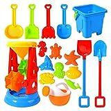 17 Stück Strandspielzeug Sandspielzeug Set, Sandkasten Spielzeug Kinder Beach-Spielset inklusive...