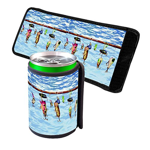 Elements of Space Fishing Lures - Insulated Neoprene Beverage Can Beer Bottle Drink Cooler Sleeve