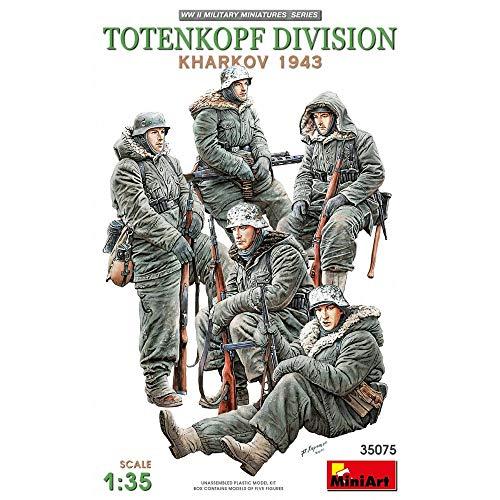 MiniArt 35075 Totenkopf Division ( KHARKOV 1943 ) 1/35 Scale Model kit 5 Figures