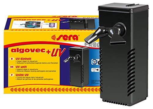 sera algovec UV ist eine innovative UV-C-Einheit mit 5 Watt ein Algenvernichter der Keime, Parasiten und Algen auf physikalische Weise im Aquarium bis 100 Liter reduziert