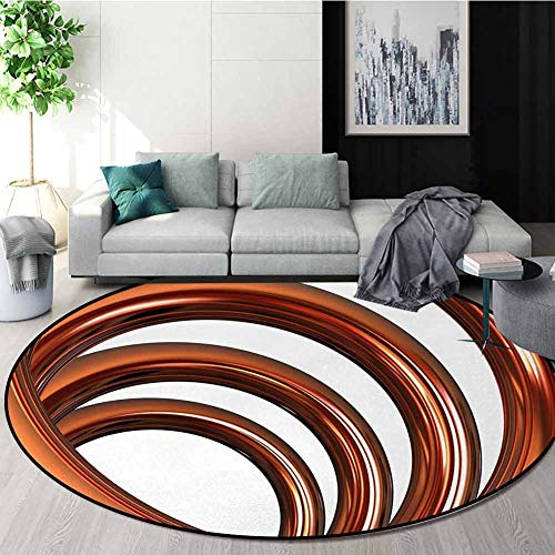 Great Features Of Abstract Modern Flannel Microfiber Non-Slip Machine Round Area Rug,Helix Coil Curv...