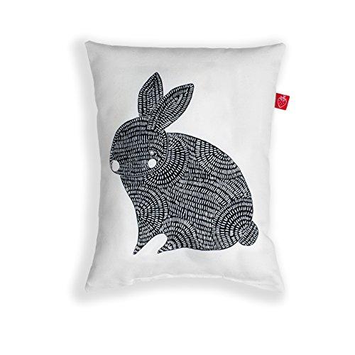 Dekokissen klein Hase (hellbeige 20x25 cm retro Zierkissen Kinderzimmer Couch)