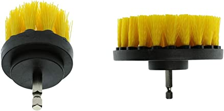 Baosity 2Pcs 2 4inch Electric Spin Scrubber Bathroom Scrubber Cleaning Brush Brush
