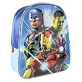 CERDÁ LIFE'S LITTLE MOMENTS Mochila Infantil 3D Avengers con Detalles Metalizados-Licencia Oficial de Marvel Studios, The Spiderman de Color Azul Unisex niños, Multicolor, 260X310X100MM