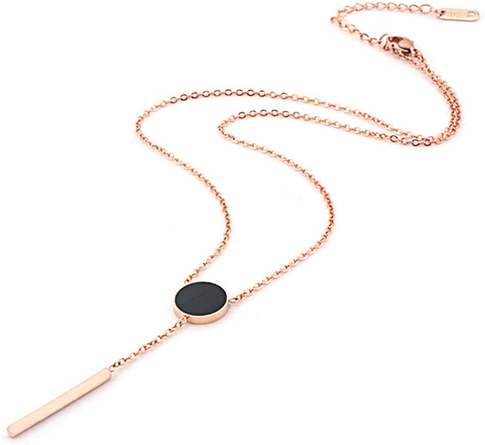 Taoqiao Gold Plated Layered Necklace for Women Girls Dainty Choker Smile Pendant Stainless Steel Necklaces