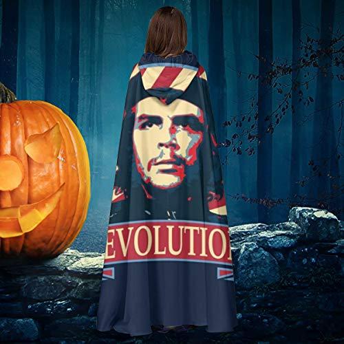NULLYTG Che Guevara Revolution - Capa de Disfraz Unisex para Halloween, Bruja, Caballero con Capucha, Vampiros, Capa para Disfraz de Cosplay