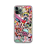 Phone Case Powerpuff Girls Chibi Compatible with iPhone 6 6s 7 8 X XS XR 11 Pro Max SE 2020 Samsung Galaxy Absorption Bumper Charm