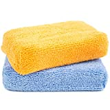 Zwipes Microfiber Kitchen and Bathroom Cleaning Sponges   Wash Dry Dust Polish   2 Pack