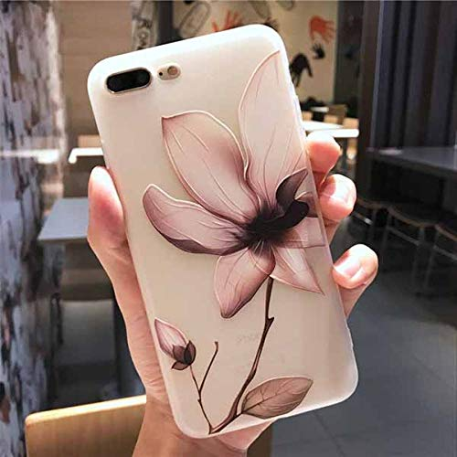 KNGYUTF telefoonhoes vintage 3D reliëf bloem telefoon case voor iPhone XS maximale XR voor iPhone 6 6S 7 8 Plus XS X zachte TPU afdekking coque geschenken Für iPhone 6Plus 6SP wit 2