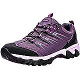 Zapatos de Senderismo Mujeres Calzado Deportivo de Exterior de Hombre Antideslizante Transpirable Zapatillas Casual Calzado de Acampada y Marcha Morado EU 38