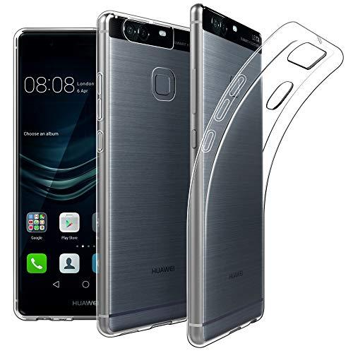 EasyAcc Hülle Hülle für Huawei P9 5.2'', Dünn Crystal Clear Transparent Handyhülle Cover Soft Premium-TPU Durchsichtige Schutzhülle Backcover Slimcase für Huawei P9