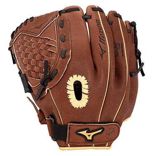 Mizuno GPP1150Y3 Prospect Series PowerClose Baseball Gloves, 11.5', Right Hand