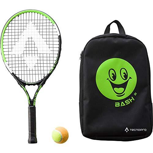 TECNOPRO Unisex Jugend Bash 21 W Rücksack Tennisschläger, Black/Green, 1size