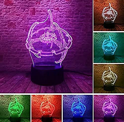 Luz Nocturna 3D De Star Wars,LVYONG Lámpara 3D De Óptico Illusions,Con Control Remoto,16 Cambio De Color,Luces Led Usb De Táctil,Mejor Regalo Para Niños.