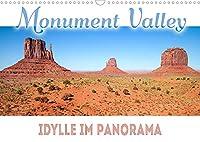 MONUMENT VALLEY Idylle im Panorama (Wandkalender 2022 DIN A3 quer): Einzigartige Weite im Suedwesten der USA (Monatskalender, 14 Seiten )