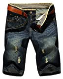 LATUD Men's Casual Denim Shorts US 38