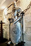 Armor Costume WAR Body Suit of Medieval Wearable Knight Crusader Full Suit Gift (Steel)