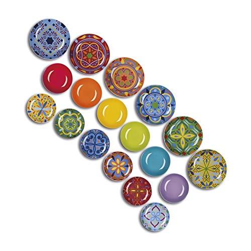 Excelsa Puebla Vajilla de 18 piezas, porcelana, multicolor