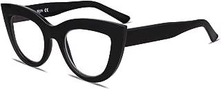 SOJOS Blue Light Blocking Glasses Retro Vintage Cateye Eyeglasses for Women Plastic Frame Hipster Party with Black Frame/Anti-Blue Light Lens